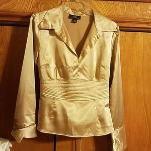Silky long sleeve blouse